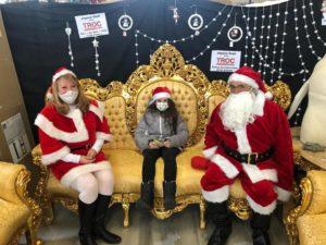 Le Père Noël était présent aujourd'hui pour le plus grand plaisir des petits et des grands !