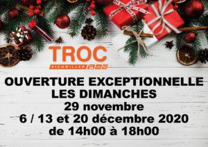 Le magasin sera ouvert dès demain, samedi 28 novembre 2020 de 9h30 à 18h🥳 Ouverture exceptionnelle les 4 dimanches avant Noël de 14h à 18h. Toute l'équipe a hâte de vous retrouver, à très bientôt !